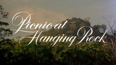 Title design from the Australian mystery film Picnic at Hanging Rock (1975)...simple but beautiful.