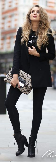 Beige And Black Animal Print Clutch by Mungolife