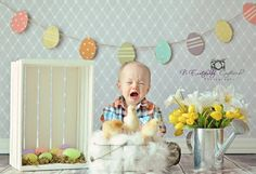 Can you believe it's already time to plan for Easter baby photos! Check out our top 10 most adorable Easter baby photos! Photography Mini Sessions, Spring Photography, Christmas Photography, Easter Pictures, Holiday Pictures, Easter Backdrops, Foto Baby, Spring Photos, Shooting Photo