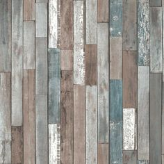 Fine Decor Reclaimed Wood Wallpaper - A rustic and realistic looking reclaimed wood effect wallpaper from Fine Decor. Multi coloured wooden panels on a luxury heavy weight wallpaper.