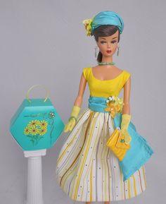 OOAK Handmade Vintage Repro Silkstone Barbie Clothes – Spring Bouquet