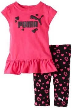 Save $24.90 on Puma - Kids Baby-Girls Infant Heart Print Biker Capri Set; only $17.10 + Free Shipping