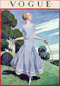 1920s blue dress, VOGUE