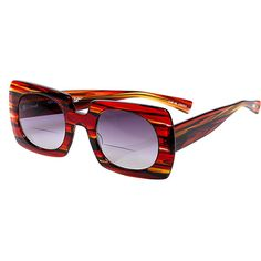 58d0b6718a eyebobs Red Stripe Hot Property Oversize Sun Bifocals ( 35) ❤ liked on  Polyvore featuring
