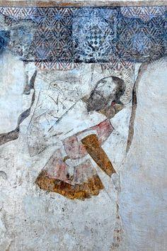 Abbatiale St-André de Lavaudieu (Haute-Loire) - région Auvergne - détail des fresques Roman, Painting, Auvergne, Fresco, Travel, Paint, Painting Art, Paintings, Painted Canvas