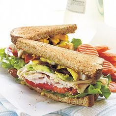 Turkey Cobb Sandwiches | MyRecipes.com #protein #grain #vegetable #myplate