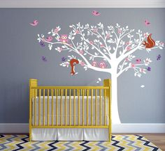 Floral Tree Wall Decal