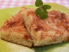 Hrnková buchta s jablky Czech Recipes, Quiche, French Toast, Food And Drink, Sweets, Apple, Baking, Breakfast, Czech Food