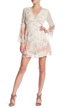 Eyelet Floral Babydoll Dress