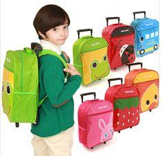 Gros enfants sacs d'école de chariot sacs sac à bandoulière mignon bébé de bande dessinée sac à dos cartable animaux modèles es128(China (Mainland))