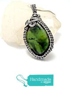 silver wire wrapped, green jade pendant, jade necklace, silver jewelry, heady pendant, green jade, gift for her, gift for wife from psjewelryart https://www.amazon.com/dp/B0737D6JG1/ref=hnd_sw_r_pi_dp_vkQtzbSSY5ARP #handmadeatamazon