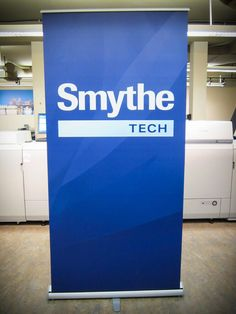 Retractable banner / Popup stand for Smyte Technologies...