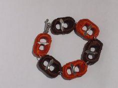Autumn Orange & Brown Crocheted Pop Tab Soda Tab by PopTabilicious, $9.95