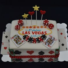 Las Vegas themed Birthday Cake! https://nichaliciousbaking.wordpress.com/las-vegas-themed-birthday-cake/