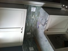 Here are the custom cabinets we painted and applied a glaze finish