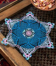 Snowflake Doily Free Crochet Pattern in Aunt Lydia's Classic Crochet Thread Size 10