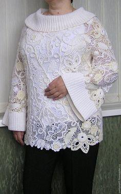 Sweatshirts and sweaters handmade. Irish Lace, Irish Crochet, Beige, Sweatshirts, Masters, Sweaters, Handmade, Stuff To Buy, Warm