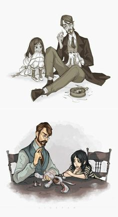 Alice Madness Returns art > Bumby & Alice Liddell > The Dollmaker > American McGee Alice In Wonderland Fanart, Alice In Wonderland Drawings, Alice In Wonderland Tea Party, Alice Madness Returns 2, Anna Blue, Creepy Cat, Alice Liddell, Rpg Horror Games, Goth Art