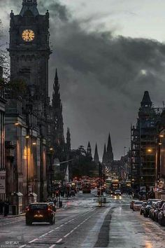 Edinburgh in the rain, Scotland