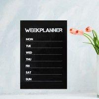Wish | HOT Weekly Plan Planner Calendar Memo Blackboard Wall Sticker Removable