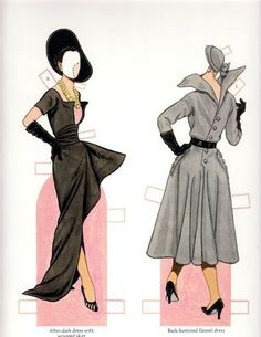 Paper dolls inspired generations - Miss Missy Paper Dolls: Classic Fashions of Christian Dior