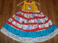 Dr Seuss Cat in the Hat Storybook Sun Dress by threadlady99, $29.99