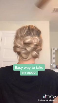 Easy Hairstyles For Long Hair, Up Hairstyles, Pretty Hairstyles, Messy Bun For Short Hair, Wedding Hairstyles, Hairdos, Updos, Hair Up Styles, Medium Hair Styles