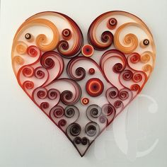 Quilling heart.