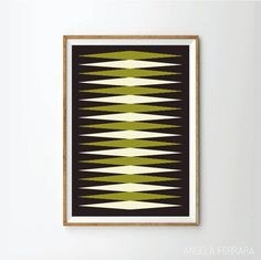 35.00$ - Mid century art print poster, retro art print poster, geometric art print poster, poster, posters, art print, prints