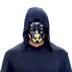 BIO HAZZARD MAN Halloween PVC Mask - Black/Yellow