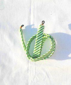 Green Stripe Seersucker Sunglass Croakies. $10.00, via Etsy.
