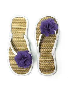 Flower Trimmed Bridesmaid and Bridal Flip Flop http://www.dessy.com/accessories/flower-trimmed-bridesmaid-bridal-flip-flop/#.UjoJ8dK-qfA