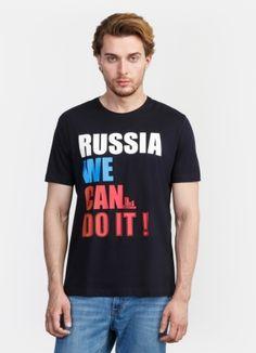 Патриотичная футболка с текстовым принтом за 799р.- от OSTIN