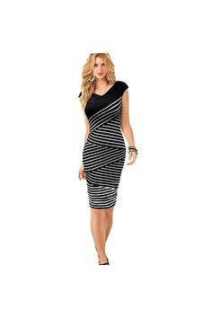 db5a5f1a56a 2016 New Women Black White Striped Bandage Dress Summer Plus Size Veatidos Sleeveless  Tank Vest Dress Sundress