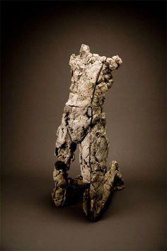 "Darrin Hallowell, b. American, ""Yield - Resist,"" 48 x 16 x 23 in. Ceramic Figures, Ceramic Art, 3d Studio, Contemporary Sculpture, Clay Art, Figurative Art, Sculpture Art, Photo Art, Sculpting"