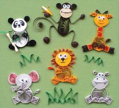 Quilled Creations Jungle Buddies Quilling Kit by Quilled Creations