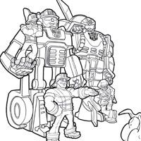 Rescue Bots Coloring Page (Can't believe I now value Rescue Bots pages!)