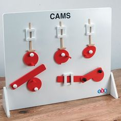 Allow children to investigate the different types of Cam movements displayed on this board before beginning a design for their own models. Kinetic Toys, Kinetic Art, Stem Projects, Wood Projects, Projects To Try, Simple Machines, Mechanical Art, 3d Prints, Crafts For Kids