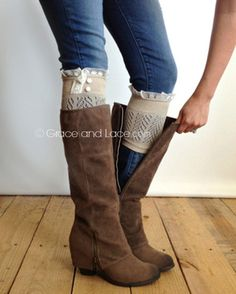 Lace Boot Cuffs From Grace And Lace - Shop Todays Hottest Women's Fashion Boot Cuffs