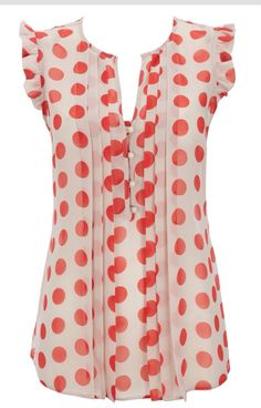 51457b2981 A fashion look from July 2012 featuring pink polka dot blouse