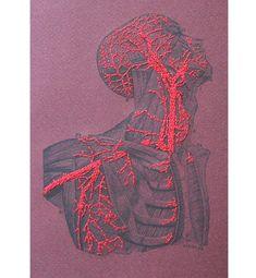 Anatomy Journal. Embroidered Notebook. Anatomy Notebook. Science Art Journal. Anatomical Journal. Gift for Doctor. Medical Art. Medicine Art