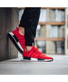 00c477216ed9 Adidas NMD R1 Red Black White Mens Trainers Adidas Nmd Mens Shoes