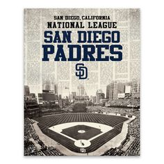 "MLB San Diego Padres Newspaper Stadium Printed Canvas Art - 22x28""x1.25"""