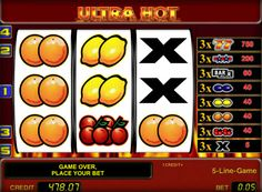Description of Online gaming slot Ultra Hot. Online slot Ultra Hot, created by the company Novomatic, is not inferior to the popularity of the latest slots, bonus games have interesting and complex animations. This game can be attributed to the timeless classics. Players appreciate the automatic Ultra Hot for ease of play and good benefits.