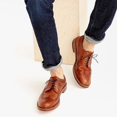 d27e6fb32a Alden® for J.Crew longwing bluchers in tobacco