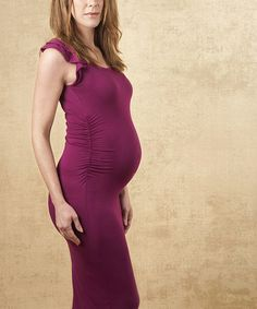 Take a look at this Plum Charlotte Maternity Maxi Dress by Chenai Fraser on #zulily today!
