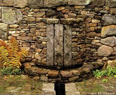 Lew French creates Fountain and Water Feature Stone Designs with Hand-picked Rock and Natural Materials