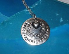 Custom Layered Mother or Grandmother Pendant by ohanabylea on Etsy, $62.00
