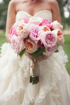 peonies and roses. faves! via http://www.cedarwoodweddings.com/2012/02/christie-i-do-declare-martha-stewart-show/