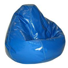 "Kids Large Wetlook Beanbag Chair - Nautical Blue (Nautical Blue) (108"" Circumference)"